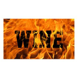 Cool Burning Fire Wine Business Card