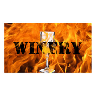 Cool Burning Fire Winery Business Card