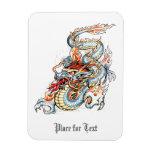 Cool Burning Oriental Dragon Magnet