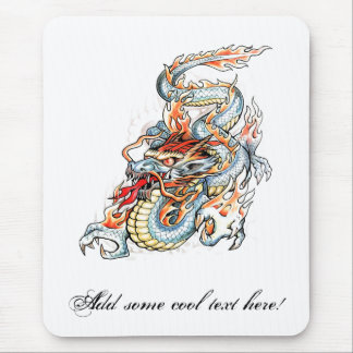 Cool Burning Oriental Dragon Mouse Pad