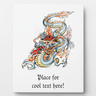 Cool Burning Oriental Dragon Plaques