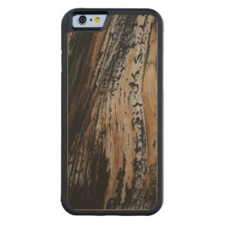Cool Burnt Tree Trunk Texture Photograph Carved® Maple iPhone 6 Bumper