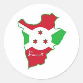 Cool Burundi Classic Round Sticker