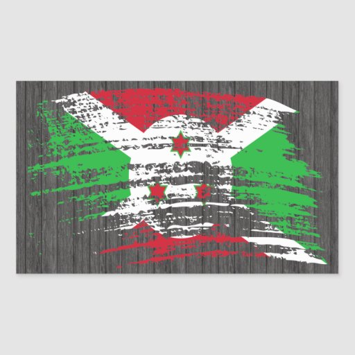 Cool Burundian flag design Rectangle Sticker