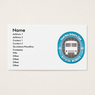 Cool Bus Drivers Club Business Card