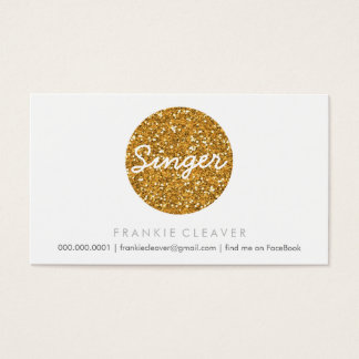 COOL BUSINESS CARD bold spot gold glitter effect