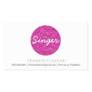 COOL BUSINESS CARD bold spot pink glitter effect