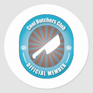 Cool Butchers Club Classic Round Sticker
