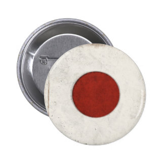 Cool Button with Dirty Vintage Flag from Japan