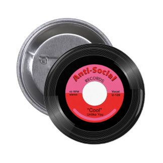 """""""Cool"""" by Unlike You Pinback Button"""