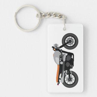 Cool Cafe Racer / Tracker Motorcycle Vintage bike Double-Sided Rectangular Acrylic Keychain