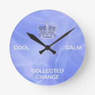 Cool Calm Collected Change Round Clock
