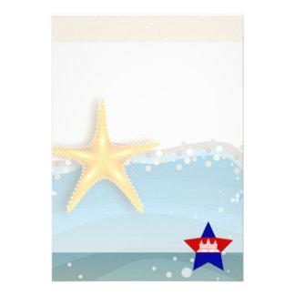 "Cool Cambodia Flag at the Beach 5"" X 7"" Invitation Card"