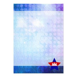 "Cool Cambodia Flag Star 5"" X 7"" Invitation Card"