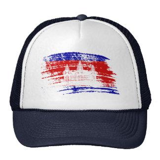 Cool Cambodian flag design Mesh Hats