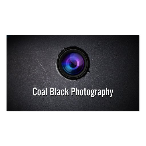 Cool camera lens embed photography business card zazzle for Cool photography business card
