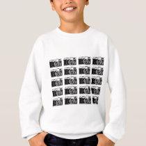 Cool camera pattern sweatshirt