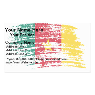 Cool Cameroonian flag design Double-Sided Standard Business Cards (Pack Of 100)