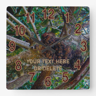 Cool Camo Clock with Your Rustic Text or Delete