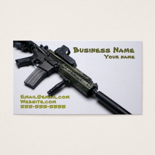 cool camo firearms business card