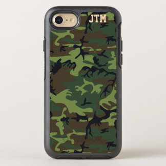 Cool Camouflage Camo Monogram OtterBox Symmetry iPhone 7 Case