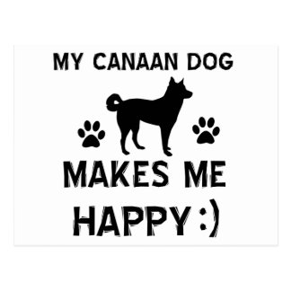Cool Canaan Dog dog breed designs Postcard