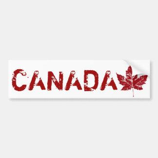 Cool Canada Bumper Sticker Distressed Maple Leaf Car Bumper Sticker