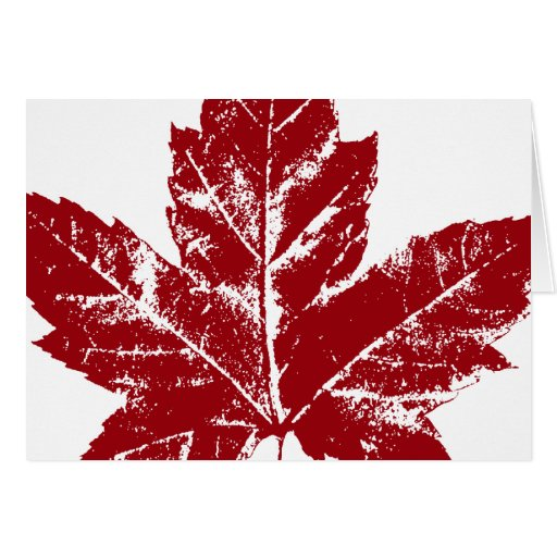 Cool Canada Card Canadian Flag Greeting Card Zazzle