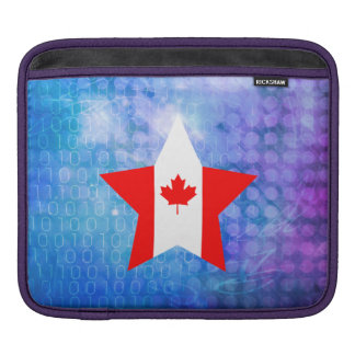 Cool Canada Flag Star Sleeves For iPads