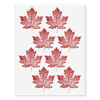 Cool Canada Temporary Tattoo Canada Flag Skin Art