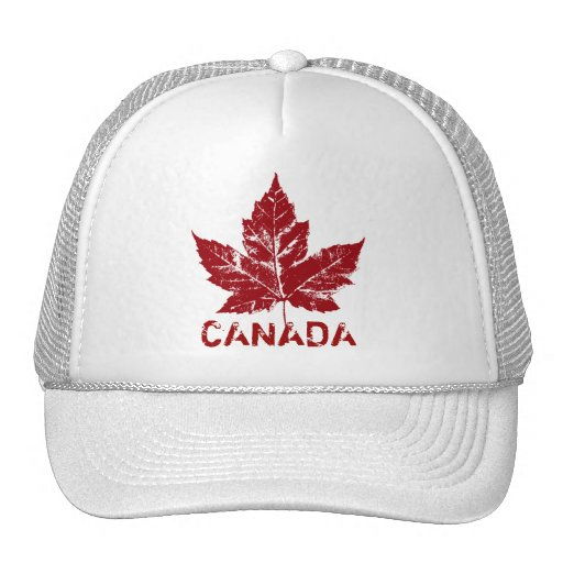 cool canada trucker cap retro canada caps hats zazzle