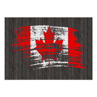 Cool Canadian flag design Poster