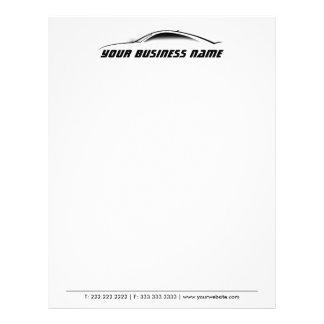 Cool Car Outline Auto Repair Business Letterhead