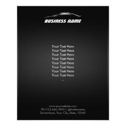 Cool Car Outline Automotive Business Flyer