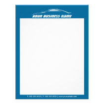 Cool Car Outline Automotive Business Letterhead