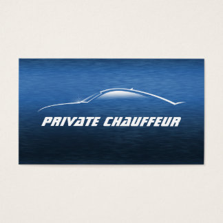 Cool Car Outline Private Chauffeur Business Card