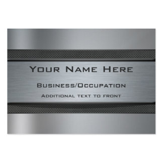 Cool Carbon Fibre and Brushed Steel Look Large Business Card