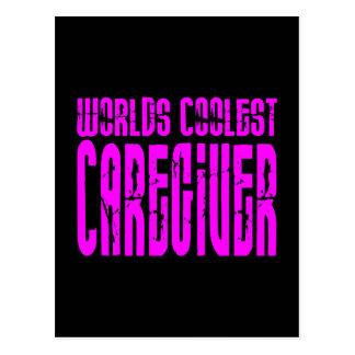 Cool Caregivers + Pink : Worlds Coolest Caregiver Postcard