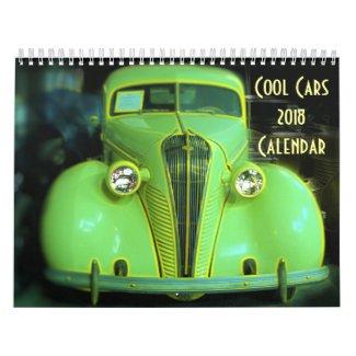 Cool Cars 2018 Calendar