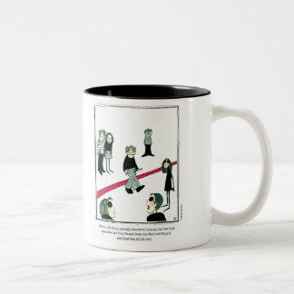 COOL cartoon by Ellen Elliott Two-Tone Coffee Mug
