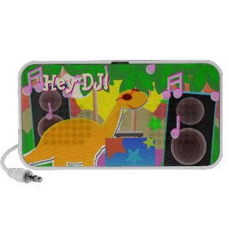"Cool Cartoon Dinosaur ""Hey DJ!"" Music Speaker"