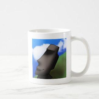 Cool Cartoon Easter Island Moai Head Coffee Mug