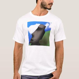 Cool Cartoon Easter Island Moai Head T-Shirt