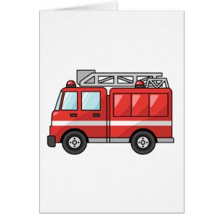 Cool Cartoon Fire Truck/Engine Card