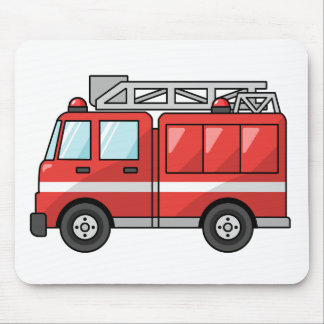 Cool Cartoon Fire Truck/Engine Mouse Pad