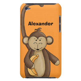 Cool Cartoon Monkey Chimpanzee With Banana Case-Mate iPod Touch Case