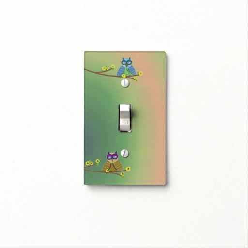 Cool Cartoon Owls Light Switch Cover Zazzle