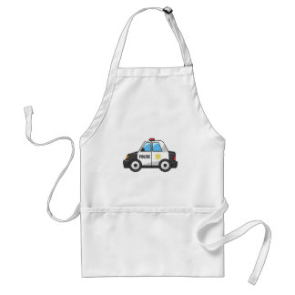Cool Cartoon Police Car Adult Apron