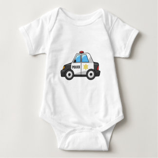Cool Cartoon Police Car Baby Bodysuit