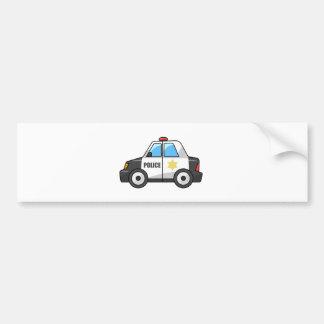Cool Cartoon Police Car Bumper Sticker